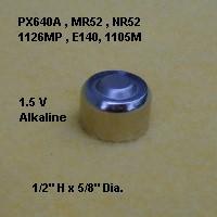 px 640a bushnell rifle scopes battery nr52 mr52 px640a. Black Bedroom Furniture Sets. Home Design Ideas